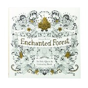 """Laurence King Publishing """"Enchanted Forest : An Inky Quest & Coloring"""" Paperback Book"""
