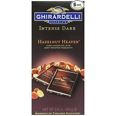 Ghirardelli Chocolate Intense Dark Bar 3.5 oz. Hazelnut Heaven GIDHH12