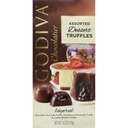 Godiva® Wrapped Dessert Truffles, 4.2 oz., Chocolate Lava Cake/Strawberry Cheesecake/Creme Brulee (GADT6)
