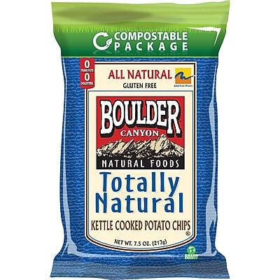 Boulder Canyon Kettle Cooked Potato Chips 7.5 oz. Totally Natural