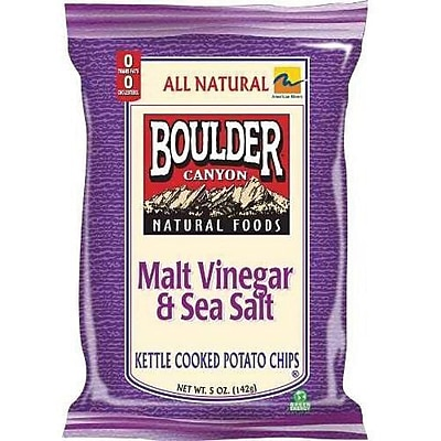 Boulder Canyon Kettle Chips 2 oz. Bag Malt Vinegar Sea Salt BOULDERVS8