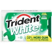Trident White Chewing Gum, Spearmint, 9/Pack (TRIWS9)