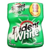 Trident White Chewing Gum Bottle, Spearmint, 4/Pack (TRIWST6)