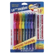 Staedtler® Maxum® Ballpoint Pen, 1.6 mm, Assorted, 8/Pack (9824B BK8)