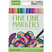 Crayola® Fine Line Contemporary Marker, Assorted, 12/Pack (58-7714)