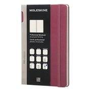 Moleskine, Professional Notebook, Large, Ruled, Plum Purple (891317)