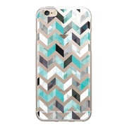 Centon OTM Floral Prints Case for iPhone 6/6S, Clear/Ziggy Aqua (IP6V1CLR-ZGY01)