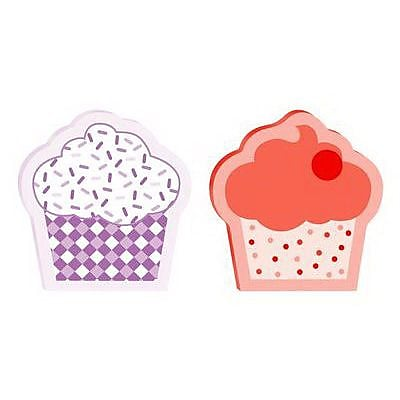 3M Post it 3 x 3 Cupcake Shape Super Sticky Note 50 Sheets Pad Assorted 2 Pads Pack 2050 CUPCKE MX
