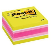 "3M™ Post-it® 3"" x 3"" Notes Cube, 400 Sheets/Cube, Assorted, 1 Cube/Pack (2054-PP)"