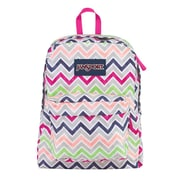 Jansport® Superbreak® Cyber Pink Summer Chevron Polyester Backpack (T5010ED)