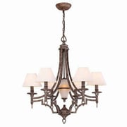 Aurora Lighting 6+1-Light Incandescent Chandelier - Rust Bronze (STL-LTR429463)