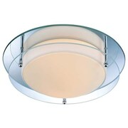 Aurora Lighting 2-Light Incandescent Flush Mount - Mirror (STL-LTR445654)