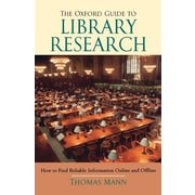 The Oxford Guide to Library Research, 0003, Paperback (9780195189988)