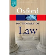 A Dictionary of Law, 0008, Paperback (9780199664924)
