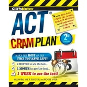 Cliffsnotes ACT Cram Plan, 0002, Paperback (9780544227262)