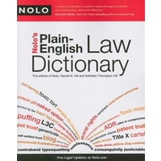 Nolo's Plain-English Law Dictionary, Paperback (9781413310375)
