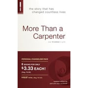 More Than a Carpenter Personal Evangelism 6pk, Paperback (9781414326283)