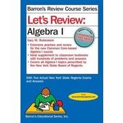 Let's Review Algebra I, Paperback (9781438006048)