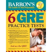 Barron's 6 GRE Practice Tests, 0002, Paperback (9781438006291)