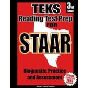 Teks 3rd Grade Reading Test Prep for Staar, Paperback (9781500658854)