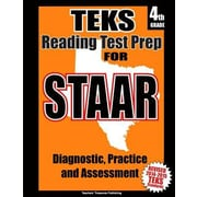 Teks 4th Grade Reading Test Prep for Staar, Paperback (9781500659585)