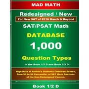 Redesigned SAT/PSAT Math Database Book 1/2, Paperback (9781514310540)