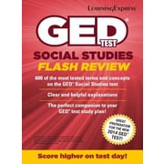 GED Test Social Studies Flash Review, Paperback (9781611030051)