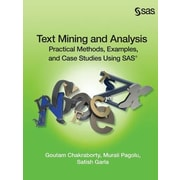 Text Mining and Analysis: Practical Methods, Examples, and Case Studies Using SAS, Paperback (9781612905518)