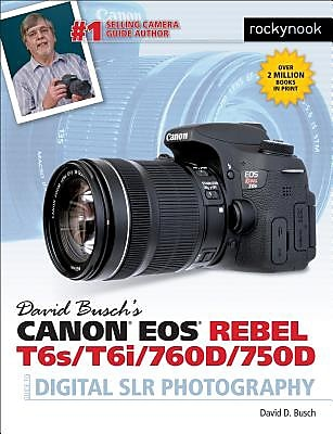 David Busch S Canon EOS Rebel T6s/T6i/760d/750d Guide to Digital Slr Photography, Paperback (9781681980560)