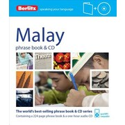 Berlitz Malay Phrase Book & CD, 0006, Paperback (9781780044019)