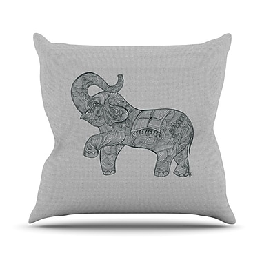KESS InHouse Elephant Throw Pillow; 20'' H x 20'' W