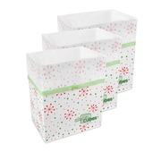 Clean Cubes LLC Snowflake Pattern 10 Gallon Recycling Waste Basket (Set of 3)