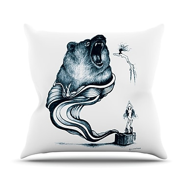 KESS InHouse Hot Tub Hunter Throw Pillow; 20'' H x 20'' W x 4.5'' D