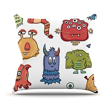 KESS InHouse Little Monsters Throw Pillow; 26'' H x 26'' W