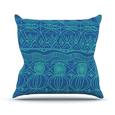 KESS InHouse Beach Blanket Confusion Throw Pillow; 18'' H x 18'' W