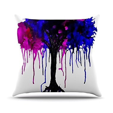 KESS InHouse Weeping Willow Throw Pillow; 18'' H x 18'' W