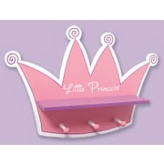Trend Lab Storybook Princess Tiara Shelf w/ 3 Peg Hooks