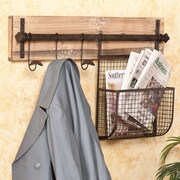 Wildon Home   Hampton Entryway Wall Coat Rack with Storage
