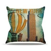 KESS InHouse New York Throw Pillow; 26'' H x 26'' W