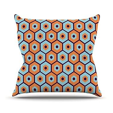 KESS InHouse Busy Throw Pillow; 26'' H x 26'' W