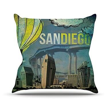 KESS InHouse San Diego Throw Pillow; 20'' H x 20'' W