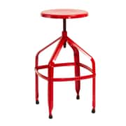 Home Loft Concepts Adjustable Height Swivel Bar Stool; Red