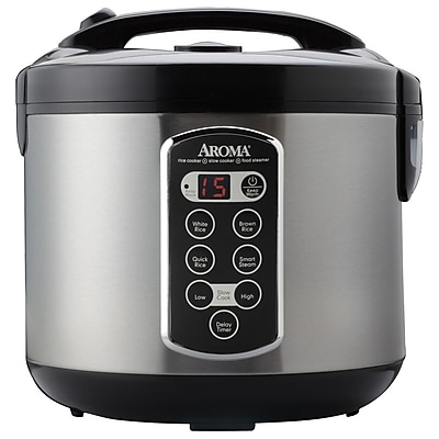 Aroma 20 Cup Stainless Steel Rice Cooker WYF078277410748