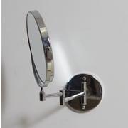 American Imaginations Round Magnifying Makeup Wall Mirror; Aluminum