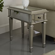 Powell Mirrored End Table