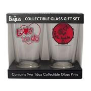 Boelter Brands Beatles Love 2 Piece Collectible Pint Glass Set