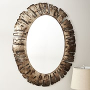 Household Essentials Oval Metal Wall Mirror