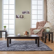 Hokku Designs Upton 3 Piece Coffee Table Set; Cappuccino