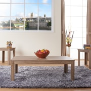 Hokku Designs Upton 3 Piece Coffee Table Set; Light Oak