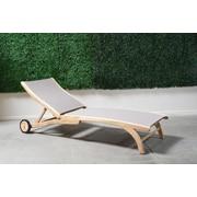 HiTeak Furniture Chaise Lounge; Taupe